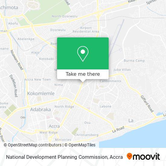 National Development Planning Commission map