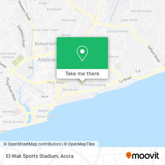 El-Wak Sports Stadium map