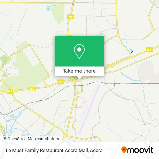 Le Must Family Restaurant Accra Mall map
