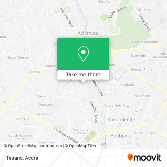 Tesano map