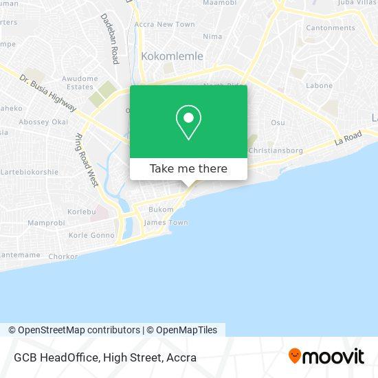 GCB HeadOffice, High Street map