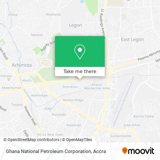 Ghana National Petroleum Corporation map