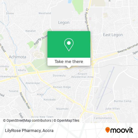 LilyRose Pharmacy map