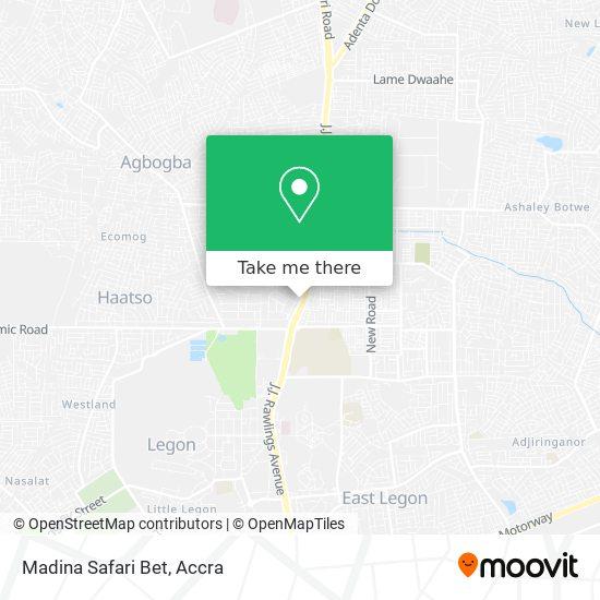 Madina Safari Bet map