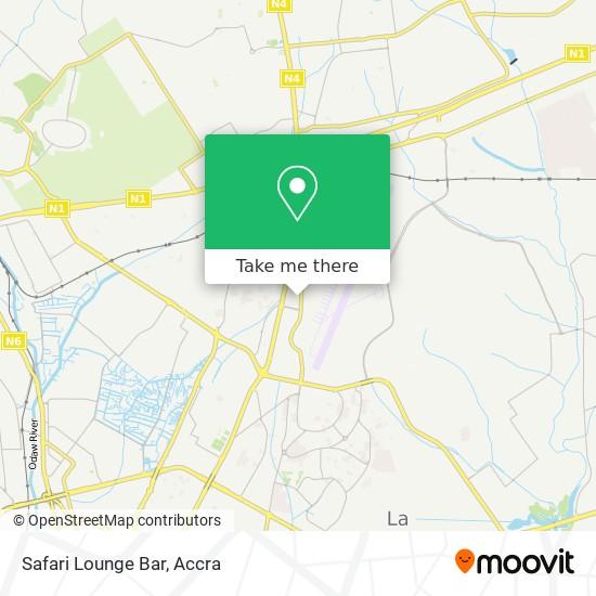 Safari Lounge Bar map