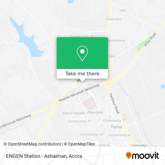 ENGEN Station - Ashaiman map