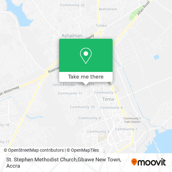 St. Stephen Methodist Church,Gbawe New Town map