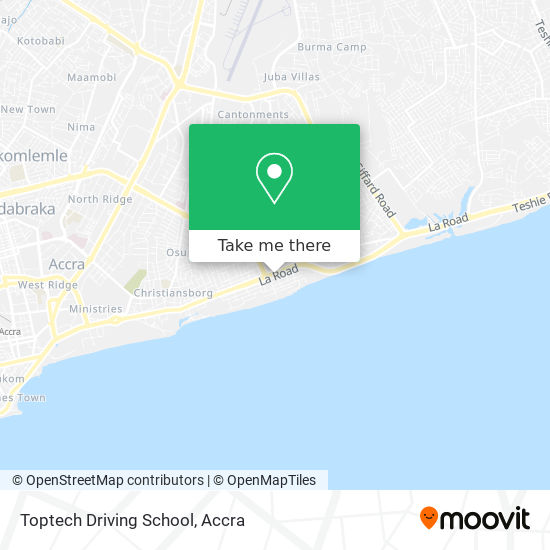 Toptech Driving School map