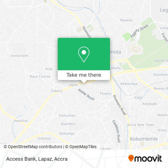 Access Bank, Lapaz map