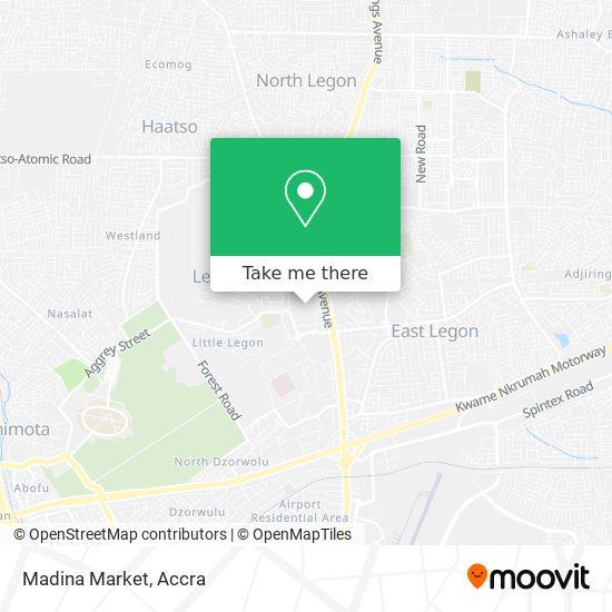 Madina Market map