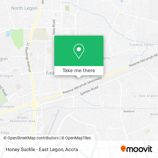 Honey Suckle - East Legon map