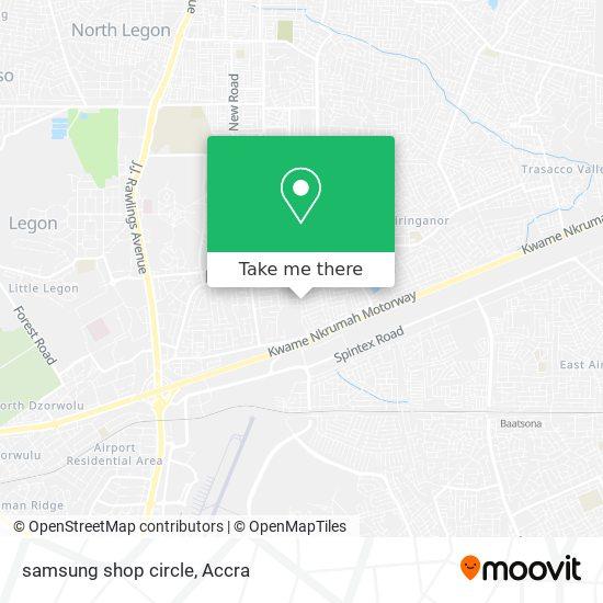 samsung shop circle map