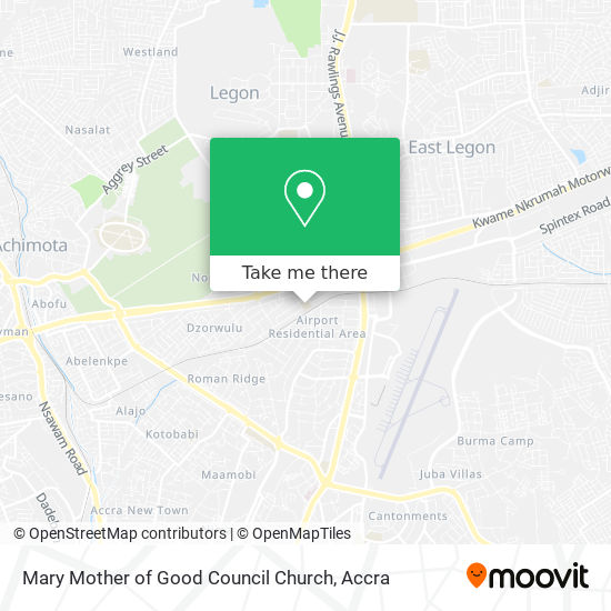 Mary Mother of Good Council Church map
