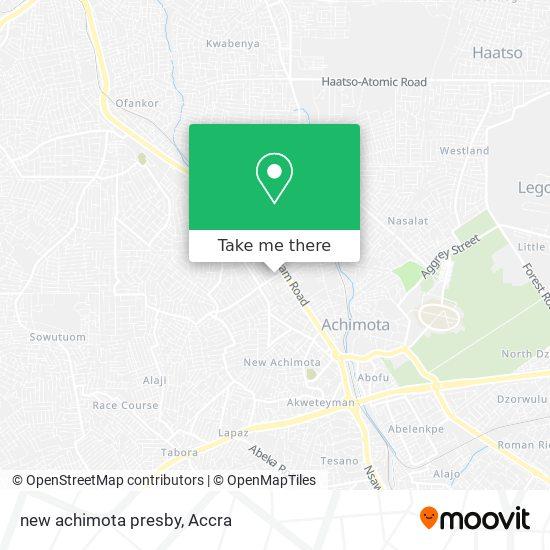 new achimota presby map