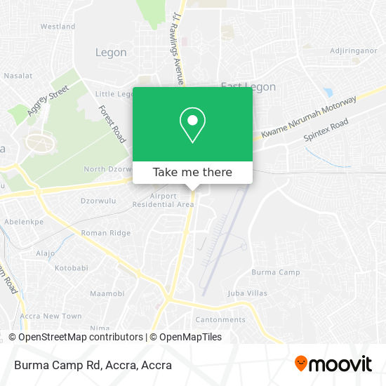 Burma Camp Rd, Accra map
