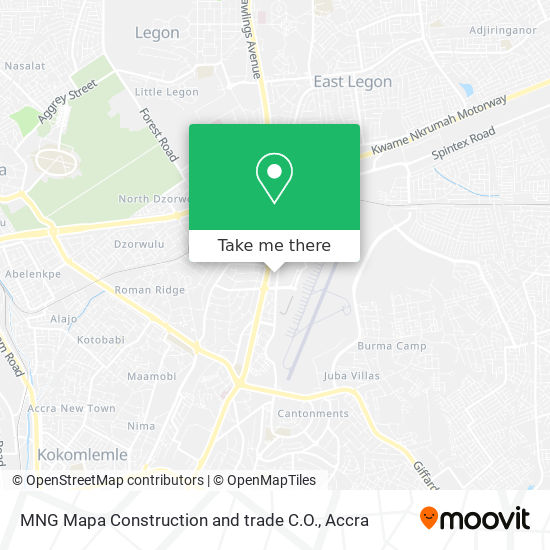 MNG Mapa Construction and trade C.O. map