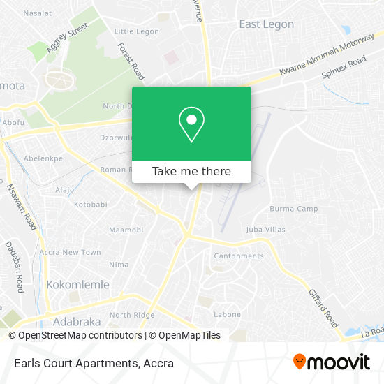 Earls Court Apartments map