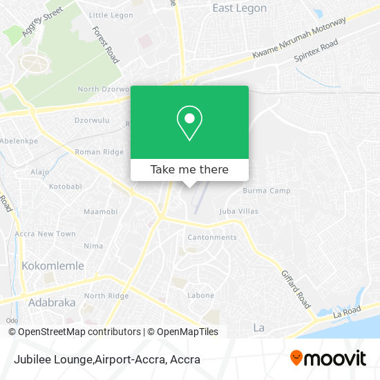 Jubilee Lounge,Airport-Accra map