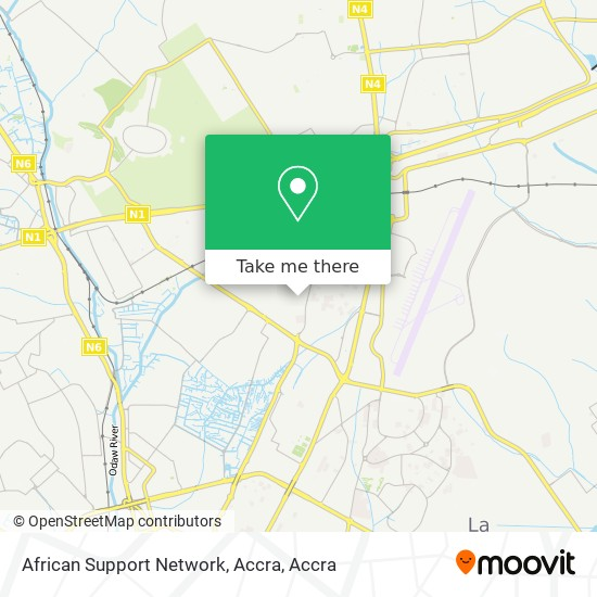 African Support Network, Accra map