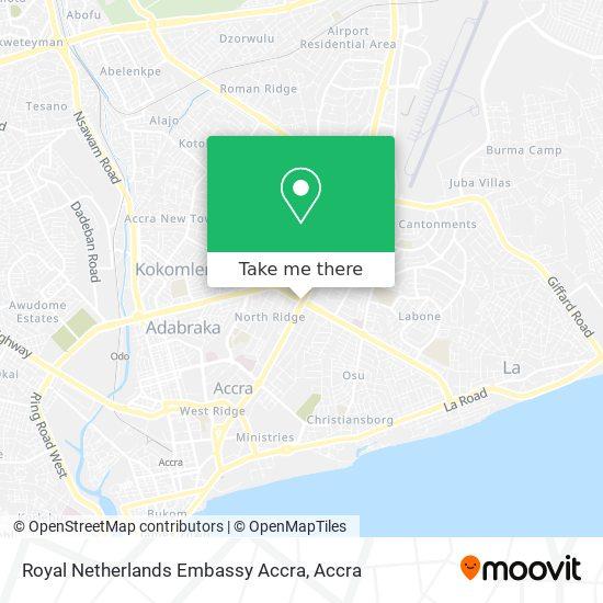 Royal Netherlands Embassy Accra map