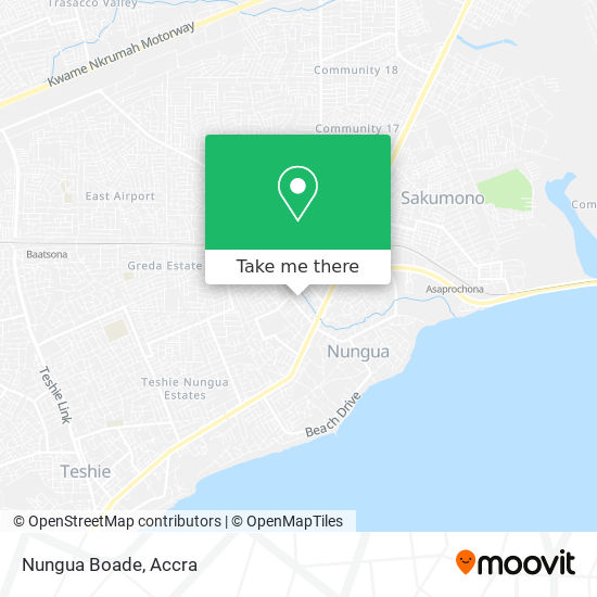 Nungua Boade map