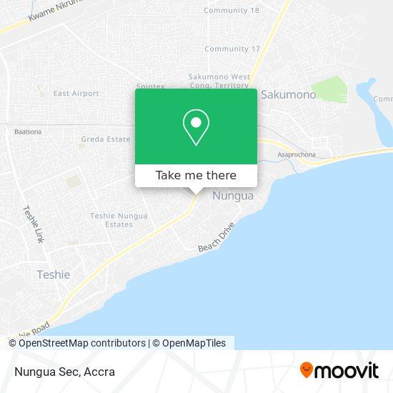 Nungua Sec map