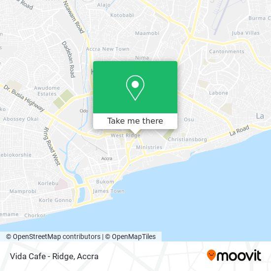 Vida Cafe - Ridge map