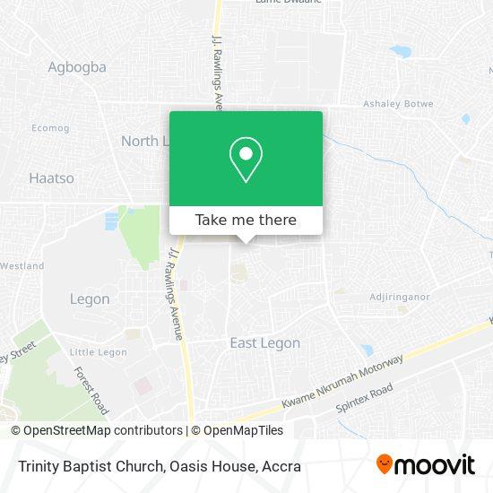 Trinity Baptist Church, Oasis House map