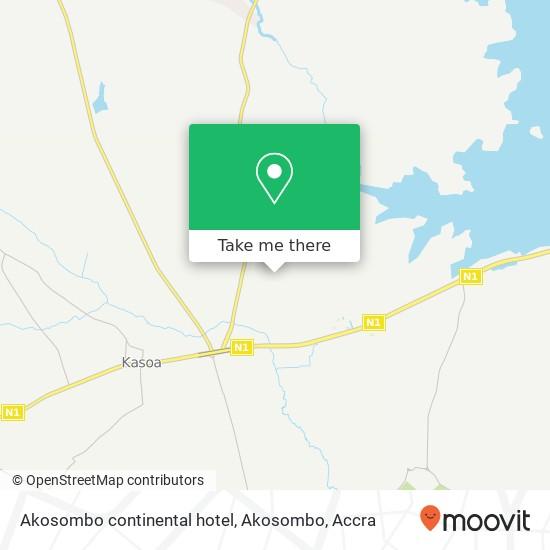 Akosombo continental hotel, Akosombo map
