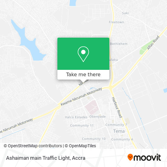 Ashaiman main Traffic Light map