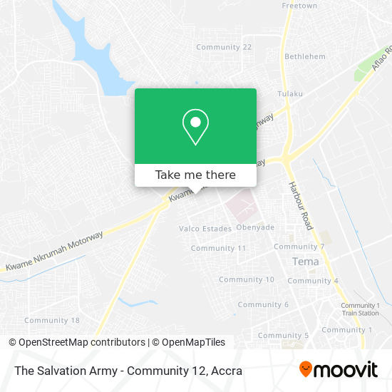 The Salvation Army - Community 12 map