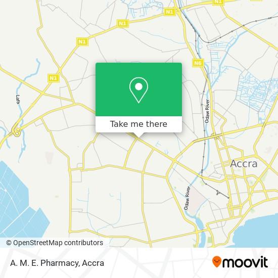 A. M. E. Pharmacy map