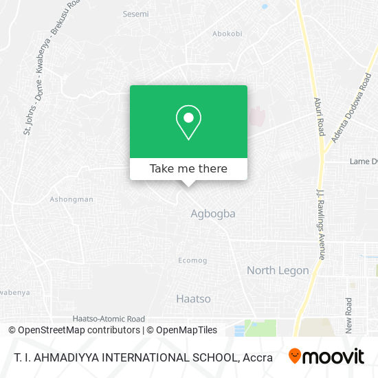 T. I. AHMADIYYA INTERNATIONAL SCHOOL map