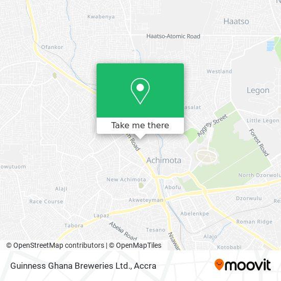 Guinness Ghana Breweries Ltd. map