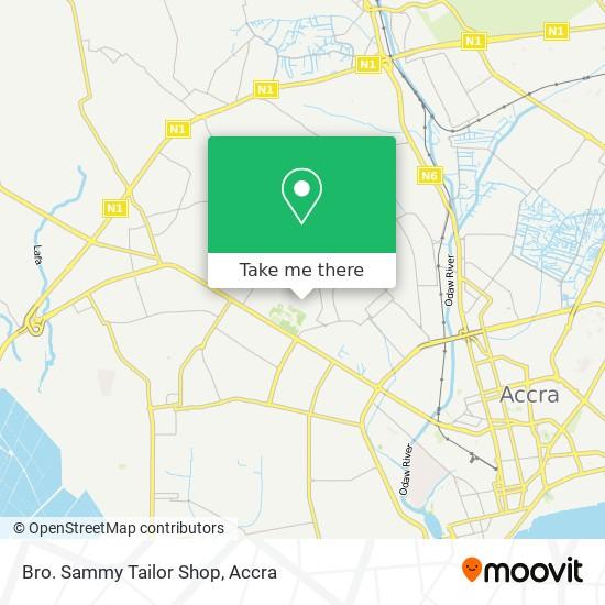 Bro. Sammy Tailor Shop map