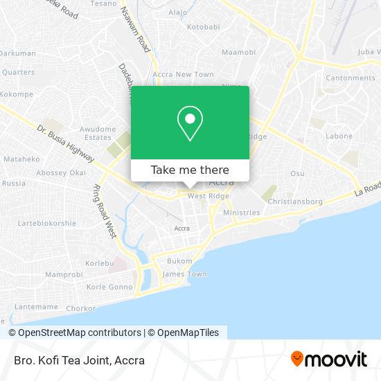Bro. Kofi Tea Joint map