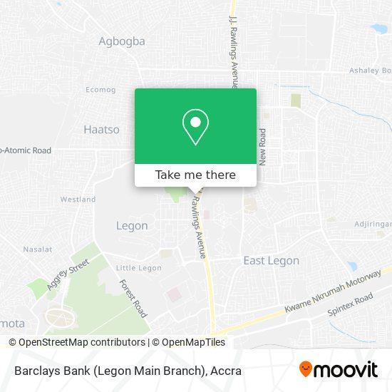 Barclays Bank (Legon Main Branch) map