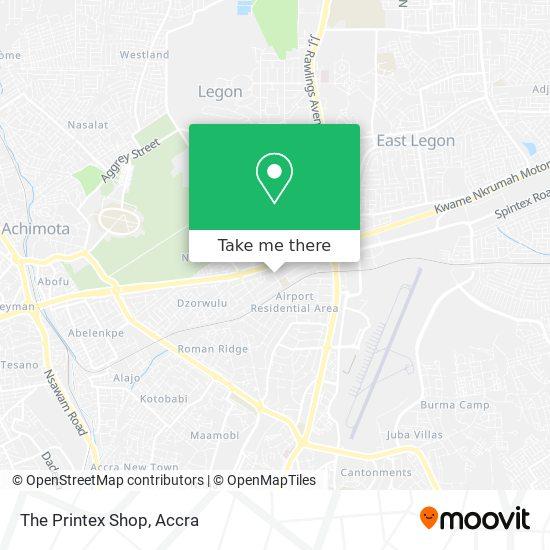 The Printex Shop map