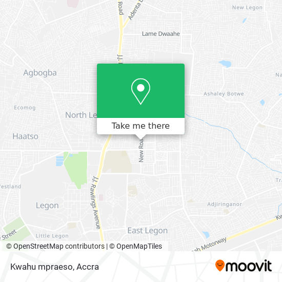 Kwahu mpraeso map