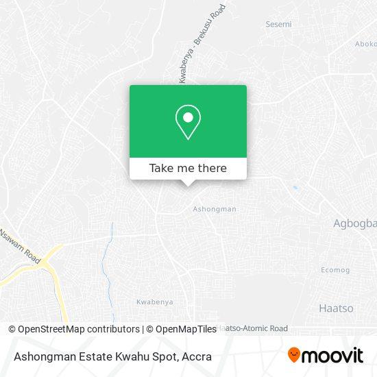 Ashongman Estate Kwahu Spot map