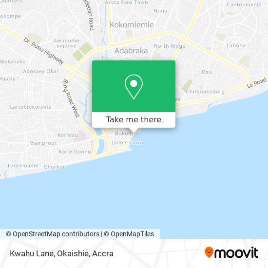 Kwahu Lane, Okaishie map