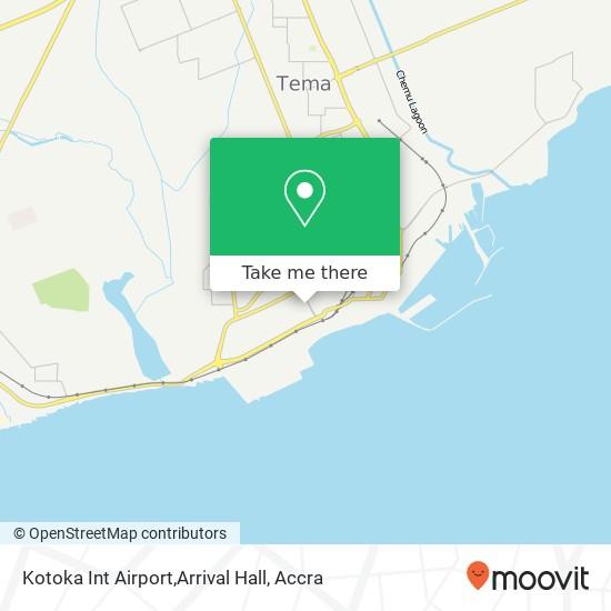 Kotoka Int Airport,Arrival Hall map