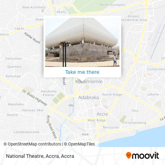 National Theatre, Accra map