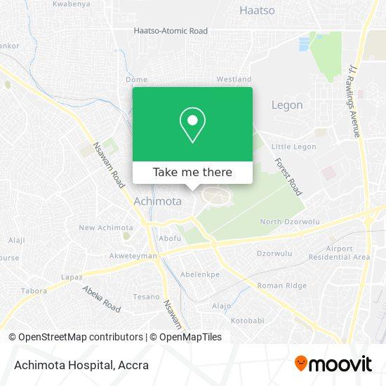 Achimota Hospital map