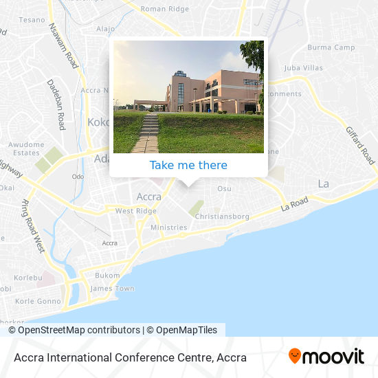 Accra International Conference Centre map