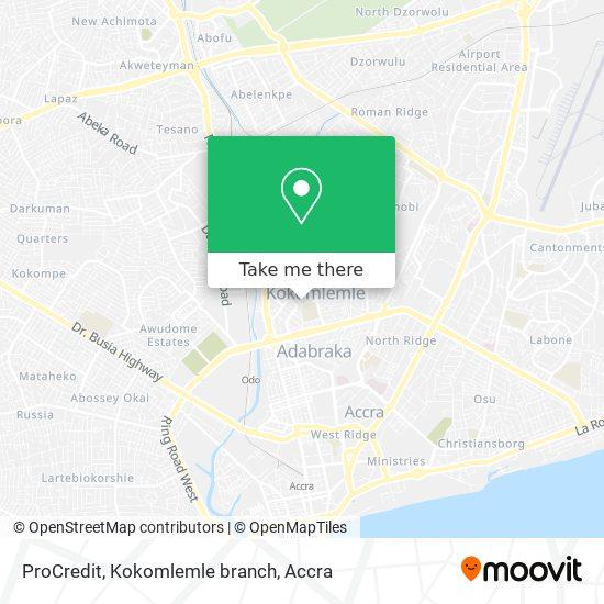 ProCredit, Kokomlemle branch map