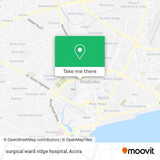 surgical ward ridge hospital map