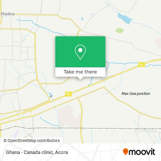 Ghana - Canada clinic map