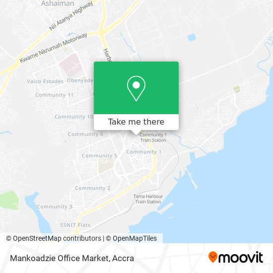 Mankoadzie Office Market map