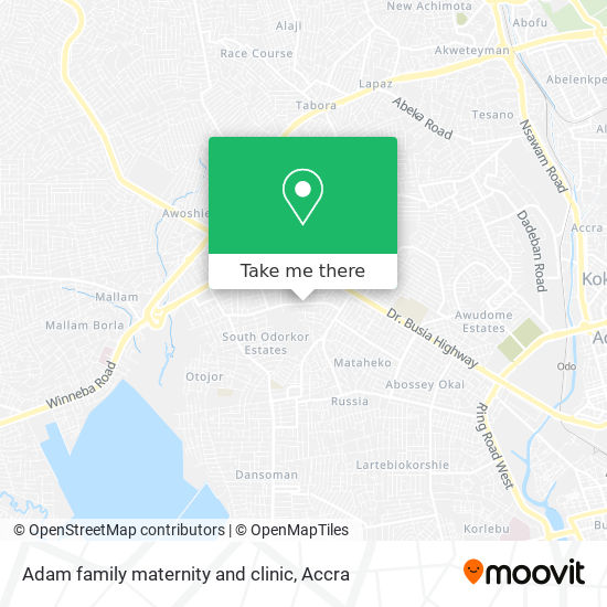 Adam family maternity and clinic map